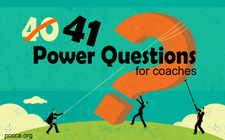 41 Power Questions for Christian Coaches at https://pccca.org