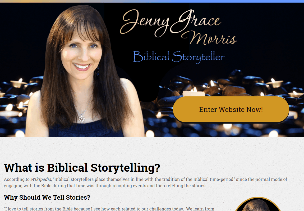 Jenny Grace Morris, MCLC website screen shot 0716