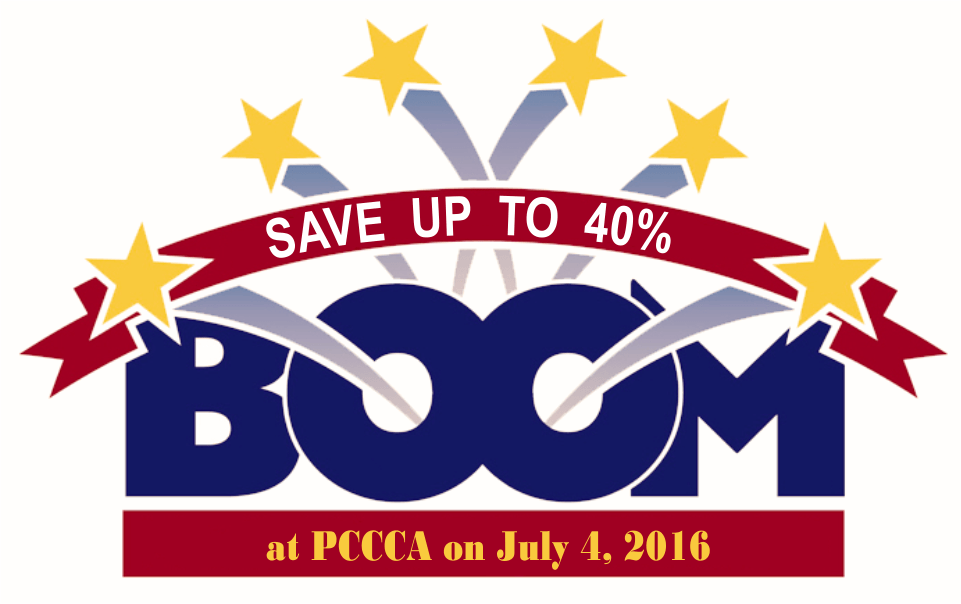 Boom at PCCCA on July 4 2016 https://pccca.org Save on tuition at PCCCA