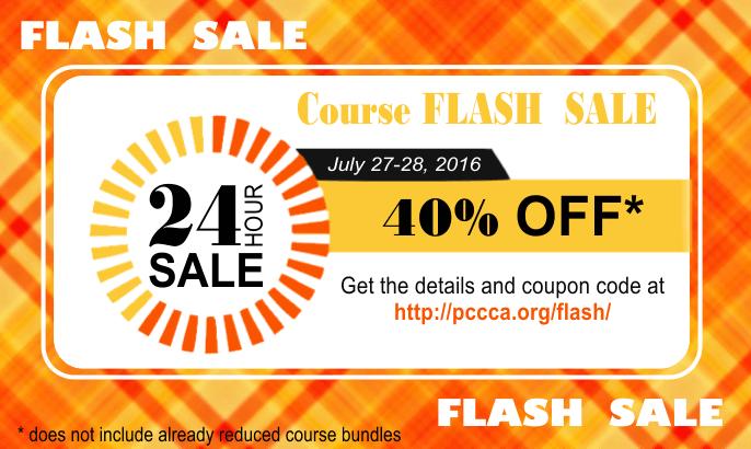 Flash Sale July 2016 https://pccca.org