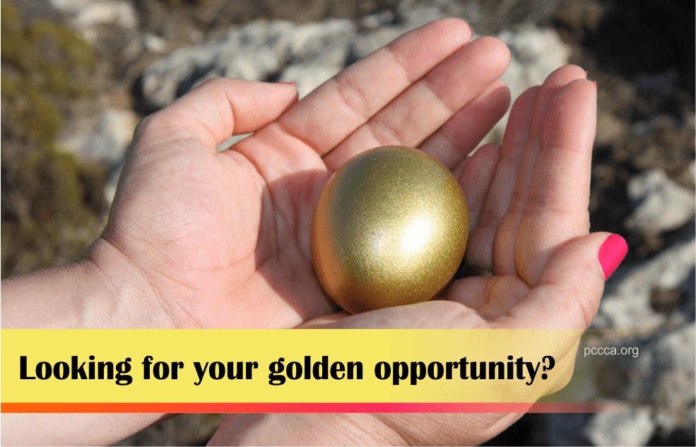 Looking for your Golden Opportunity - https://pccca.org 090616