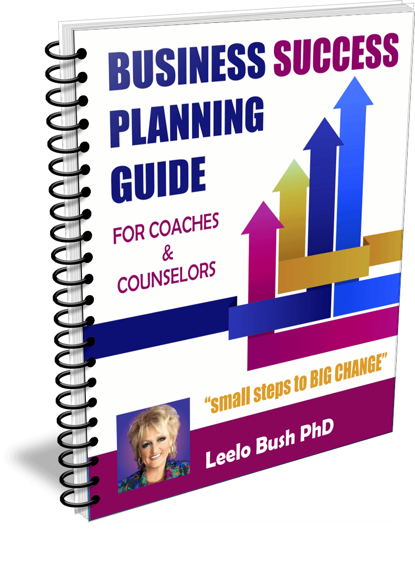 Business Success Planning Guide for coaches and counselors - get it at https://pccca.org/bookstore/