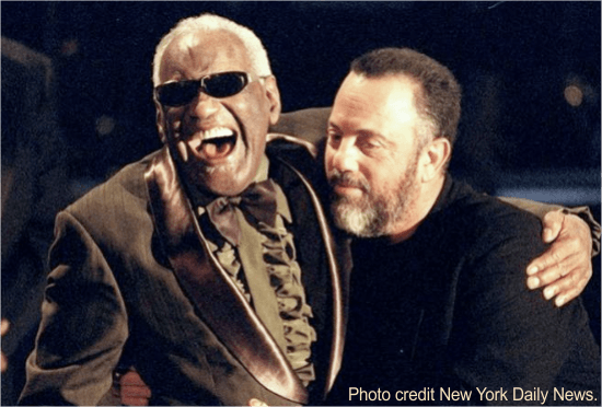 The late Ray Charles mentored Billy Joel, focusing on strengths.