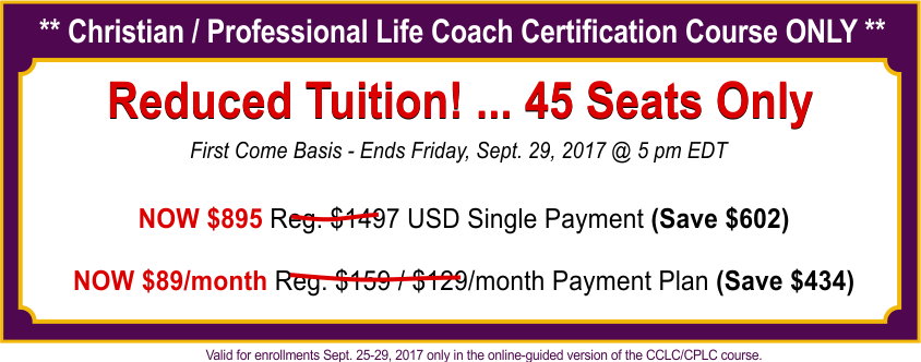 Coach Tuition Sale Sept 25-29 2017 for 33-40 OFF http://pccca.org/courses/