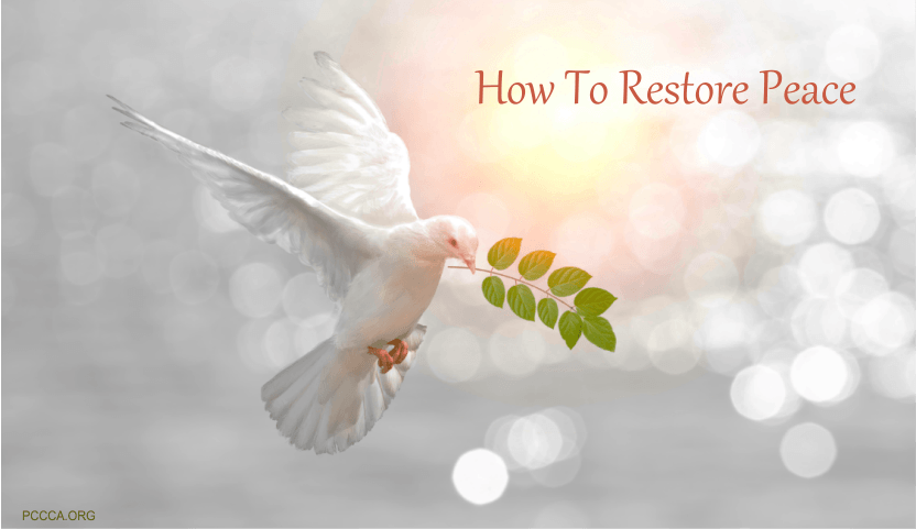 How to Restore Peace During Stressful Times http://pccca.org
