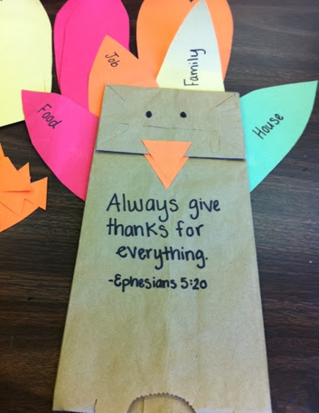 Always give thanks Eph 5:20 - Interactive Thanksgiving