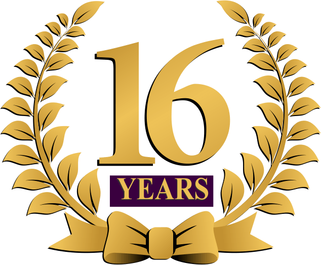 Celebrating 16 years of excellence - founded 2003